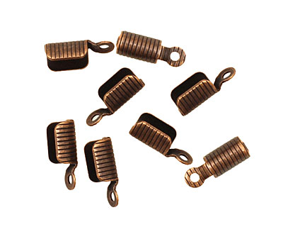 Antique Copper (plated) Foldover Cord End 11x4mm