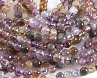 Purple Phantom Quartz (Auralite-23) Round 4mm