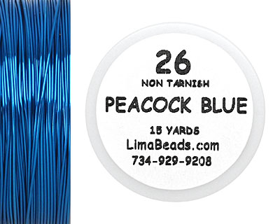 Parawire Peacock Blue 26 Gauge, 15 Yards