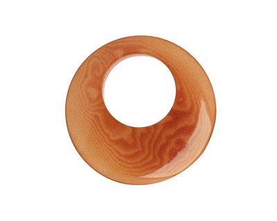 Tagua Nut Caramel Gypsy Hoop 25mm