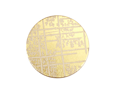 Lillypilly Gold Bamboo Anodized Aluminum Disc 25mm, 22 gauge
