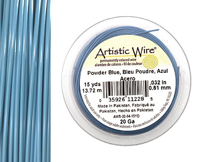 Artistic Wire Powder Blue 20 gauge, 15 yards