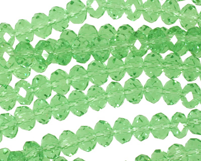 Peridot Crystal Faceted Rondelle 6mm