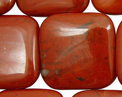Red Jasper Puff Square 30mm
