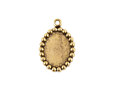Nunn Design Antique Gold (plated) Vetri Beaded Oval Frame 15x21mm