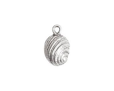 Nunn Design Antique Silver (plated) Snail Charm 10x16mm