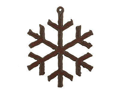 The Lipstick Ranch Rusted Iron Snowflake Pendant 49x61mm