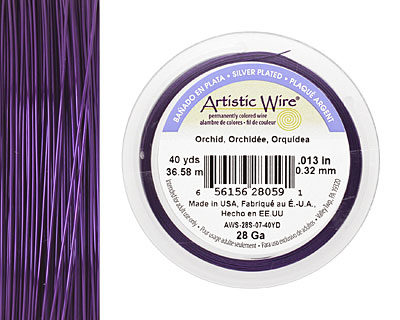 Artistic Wire Silver Plated Orchid 28 gauge, 40 yards
