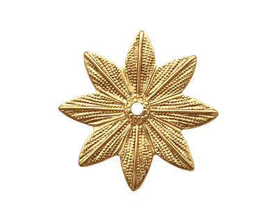 Nunn Design Brass Grande Daisy Embellishment 31mm