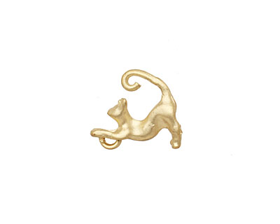 Ezel Findings Gold (plated) Cat Charm 4x15mm