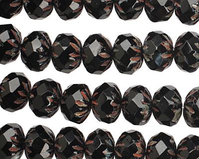 Czech Glass Dark Garden Cruller 6x9mm