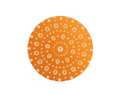 Lillypilly Orange Crochet Anodized Aluminum Disc 25mm, 24 gauge