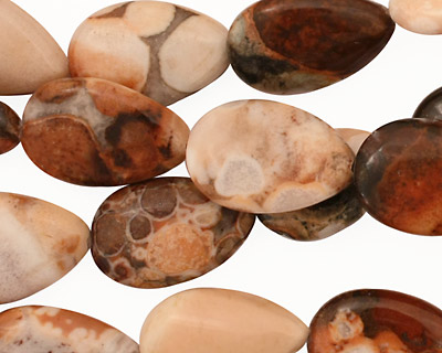 Conglomerate Jasper Flat Teardrop 16x12mm