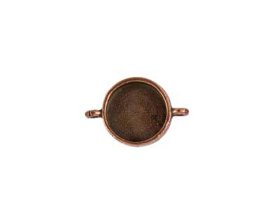 Nunn Design Antique Copper (plated) Small Circle Bezel Link 28x19mm