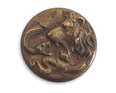 Vintaj Natural Brass Lion Snake Figural 30mm