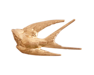 Nunn Design Brass Grande Bird 34x18mm