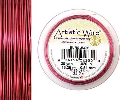 Artistic Wire Burgundy 24 gauge, 20 yards