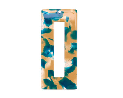 Zola Elements Tide Pool Acetate Rectangle Donut 22x49mm