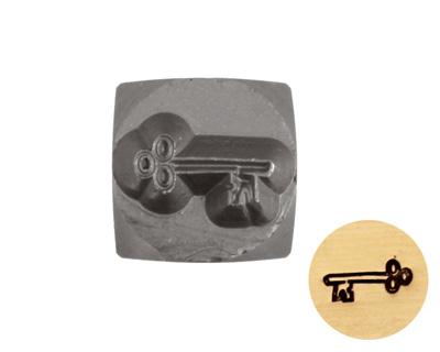 Skeleton Key Metal Stamp 6mm