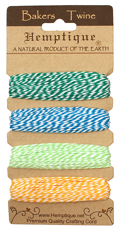Tutti Fruitti Bakers Twine 2 ply, 30 ft x 4 colors
