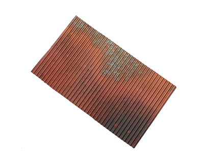 Lillypilly Rojo Corrugated Patina Copper Sheet 3