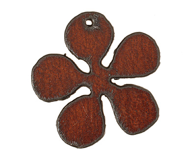 The Lipstick Ranch Rusted Iron Large Daisy Pendant 43mm