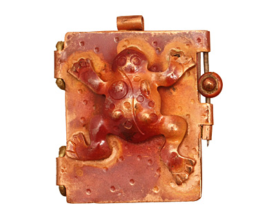 Patricia Healey Copper Frog Locket 39x44mm