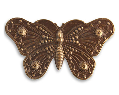 Vintaj Natural Brass Butterfly Grandeur 70x40mm
