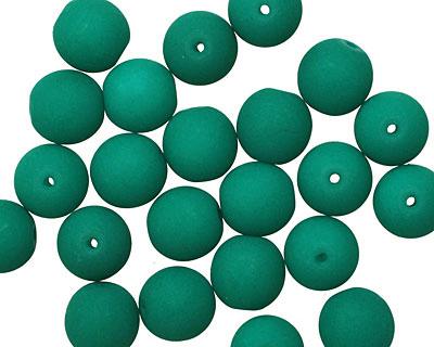 Czech Glass Dark Neon Emerald Round 8mm