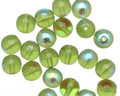 Czech Glass Olivine AB Round 8mm