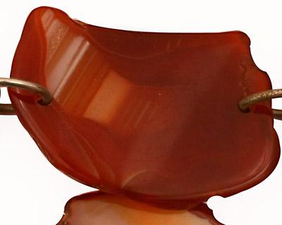 Orange Agate w/Rings Natural Edge Freeform Faceted Slab 35-58x26-49mm