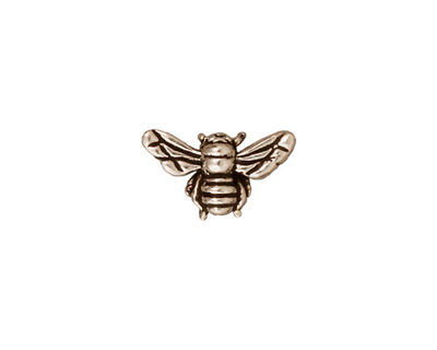 TierraCast Antique Silver (plated) Honey Bee 9x15mm