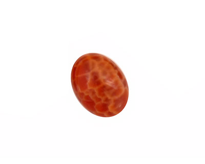 Fire Agate Oval Cabochon 12x16mm