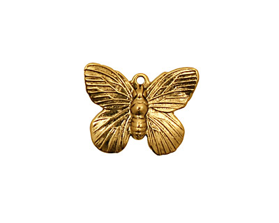 Stampt Antique Gold (plated) Butterfly Charm 19x15mm
