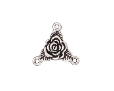 TierraCast Antique Silver (plated) Rose Link 18mm