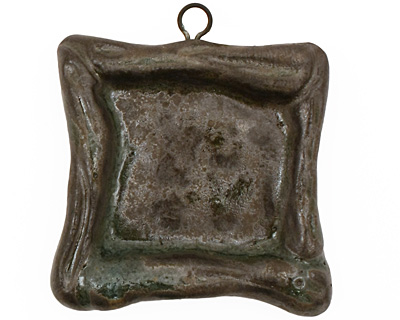 Gaea Ceramic Antique on Chocolate Square Bezel 25mm