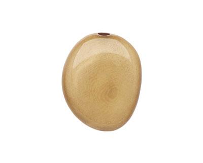 Tagua Nut Parchment Flat Pebble 35-45x28-37mm