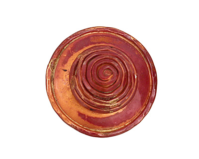 Patricia Healey Copper Spiral Button 25mm