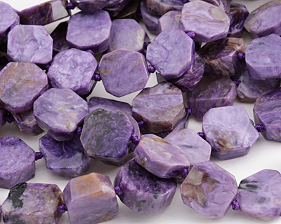 Charoite Rough Cut Freeform Slice 13-16x14-16mm