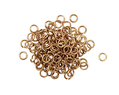 Artistic Wire Non-Tarnish Brass Chain Maille Jump Ring 3.18mm, 20 gauge