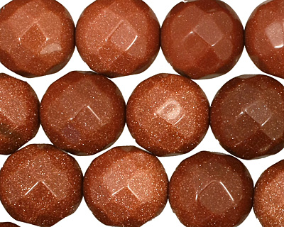 Goldstone Faceted Round 15mm