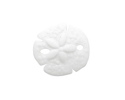 Opaque White Recycled Glass Sand Dollar 20mm