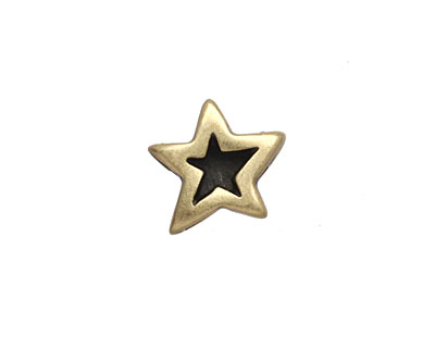 Antique Brass (plated) Double Sided Star 10mm Cord Slide 15mm