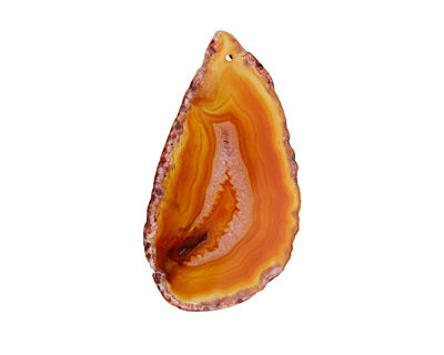 Canyon Agate Freeform Slice w/ Natural Edge Focal 31-51x55-100mm