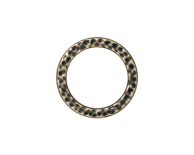 TierraCast Antique Brass (plated) Large Hammertone Ring 19mm