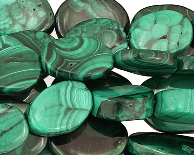 Malachite Flat Freeform Slab 15-23x11-18mm