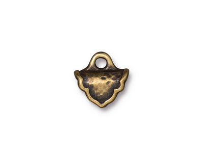 TierraCast Antique Brass (plated) Palace Crimp End 12.5x12mm