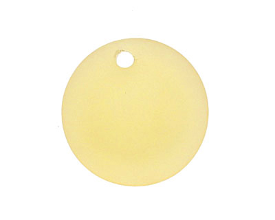 Desert Gold Recycled Glass Concave Coin 24mm