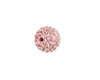Light Rose Pave Round 12mm (1.5mm hole)