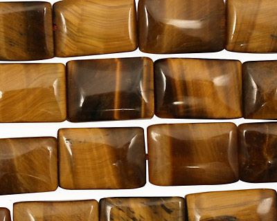 Tiger Eye Thin Pillow 15x10mm